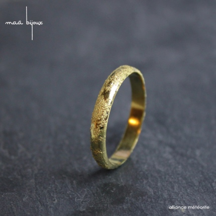 Alliance meteorithe Maä bijoux en or 18 carats