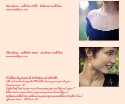 """Capture d'écran du blog """"Une fille chic"""""""